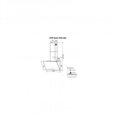 Вытяжка кухонная Minola HVS 6232 BL/INOX 700 LED Фото 10