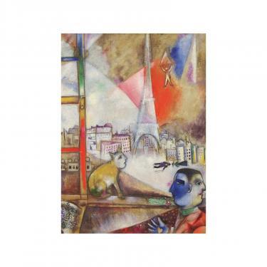 Пазл Eurographics Париж через окно. Марк Шагал, 1000 элементов Фото 1