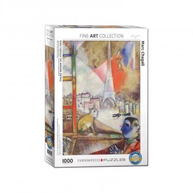 Пазл Eurographics Париж через окно. Марк Шагал, 1000 элементов Фото