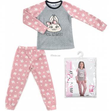 Пижама Matilda флисовая (11013-3-116G-pink) - фото 1