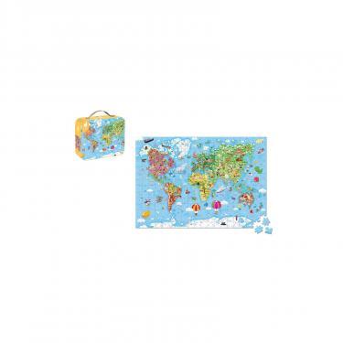Пазл Janod двусторонний Карта мира 300 элементов Фото 1