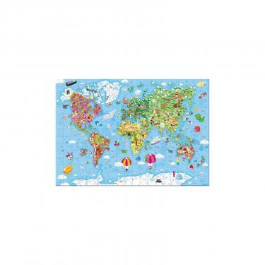 Пазл Janod двусторонний Карта мира 300 элементов Фото 3