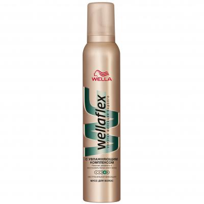 Пена для волос WellaFlex с увлажняющим комплексом Экстрасильная фиксация 200 мл (4056800012428)