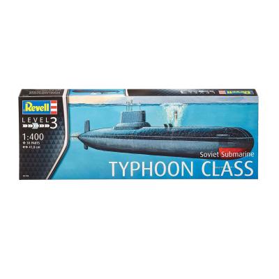 Сборная модель Revell Подводная лодка Soviet Submarine TYPHOON CLASS 1:400 (5138)